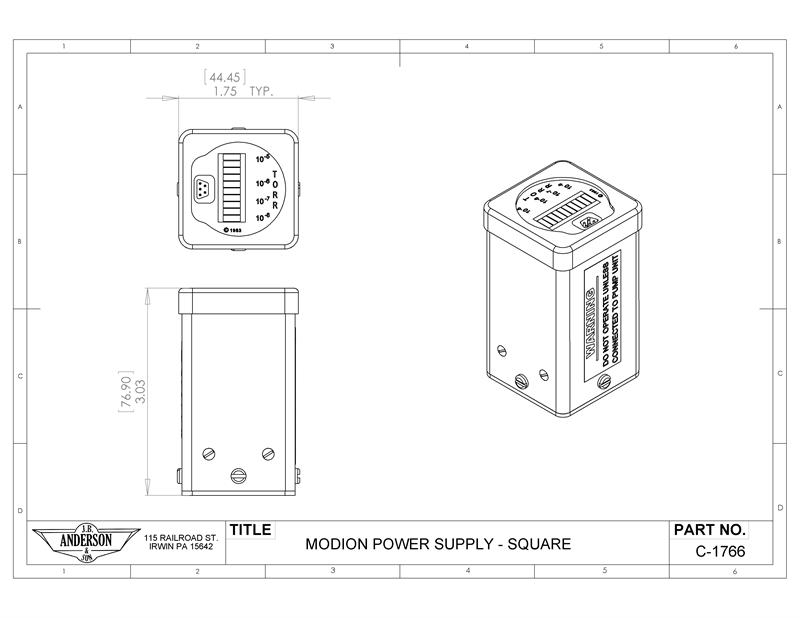 Modion Vacuum pump power supply - Specs